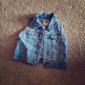 Jean vest with skirt
